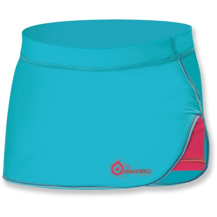 Surf The Camaro Curls Water skort features lightweight, sun-protective fabric your girls will love and style that looks great in or out of the water. Integrated UPF 50+ sun protection shields skin from harmful ultraviolet rays. Water-friendly, stretchy nylon fabric feels soft against skin and dries quickly. Closeout. - $19.73