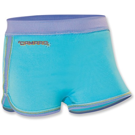 Surf Lightweight, stretchy and sun-protective, the Camaro toddler girls' Rashguard shorts keep future surfers and emerging sandcastle builders comfortable during long days of fun in the sun. - $9.73