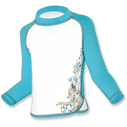 Kayak and Canoe If your little one spends so much time in the water you suspect she's part mermaid, help keep her skin shielded from the sun's harmful rays with the Camaro toddler girls' rashguard. - $14.73