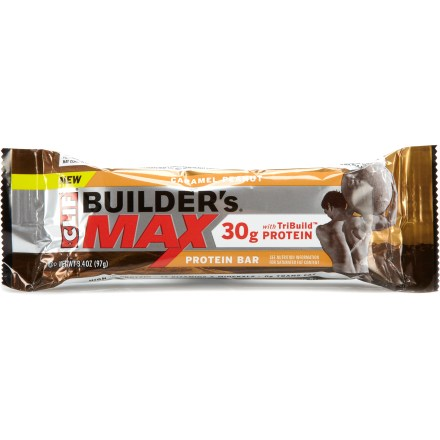 Camp and Hike Each Clif Builder's Max protein bar contains 30g of a blend of whey, soy and casien protein to promote muscle growth throughout the day and muscle recovery after a hard workout. - $2.95