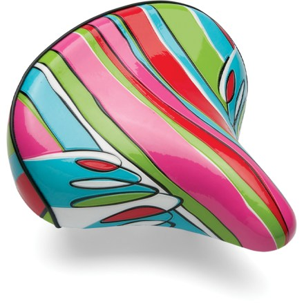 Fitness With sweet and vibrant style, the Electra Cruiser Candy bike saddle pops with color and offers a smooth, comfortable ride thanks to large coil springs and a wide platform. - $39.93