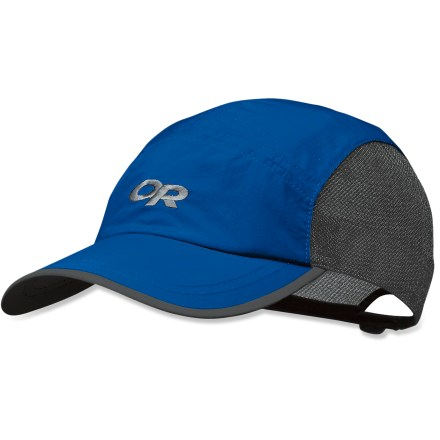 Camp and Hike You might say it takes its design from a backpacking tent, for this Outdoor Research Swift cap features mesh body for breathability and a protective rainfly on top! - $25.00