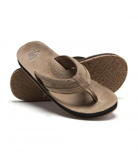 Surf O'Neill mens Captain Jack sandal with synthetic nubuck upper; comfort airmesh lining; debossed logo graphics; contoured compression molded eva footbed; super arch support; rubber outsole. - $33.99
