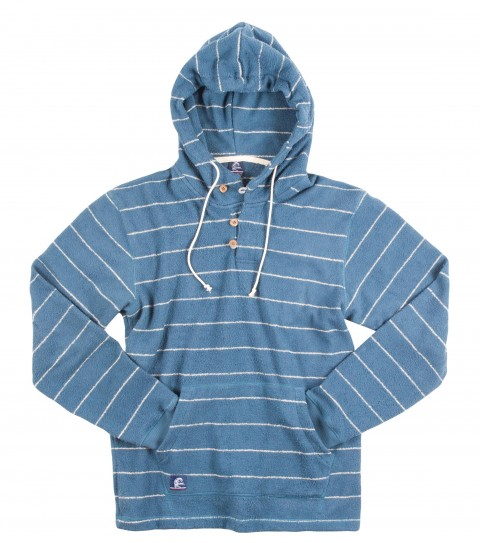 Surf Jack O'Neill Soltice Hoodie.  100% Cotton terry cloth hooded pullover. Heavily washed for a super soft hand. 3 button closure at neck with pouch pocket at front. Ultimate layering piece for when the sun goes down. - $34.99