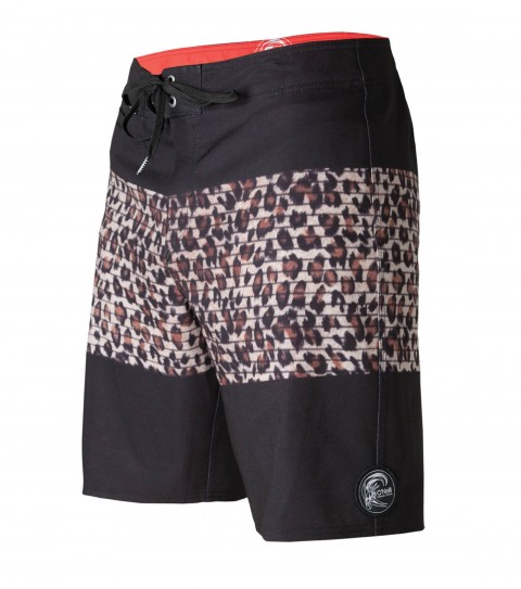 "Surf O'Neill Feral Boardshorts.  Epicstretch. 19"" outseam boardshort features superfly closure; back pocket; front key pocket; circle surfer patch; embroidery and screened logos. - $35.99"