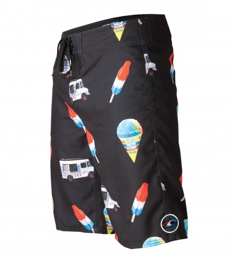 "Surf O'Neill Bomb Pop Boardshorts.  Ultrasuede.  22"" outseam boardshort features comfort fly closure; side pocket; woven patch; embroidery and screened logos. - $26.99"