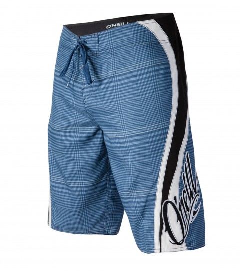 "Surf O'Neill Grinder Boardshorts.  Ultrasuede.  22"" outseam boardshort features contrast panels; comfort fly closure; side cargo pocket; applique; embroidered and screened logos. - $27.99"