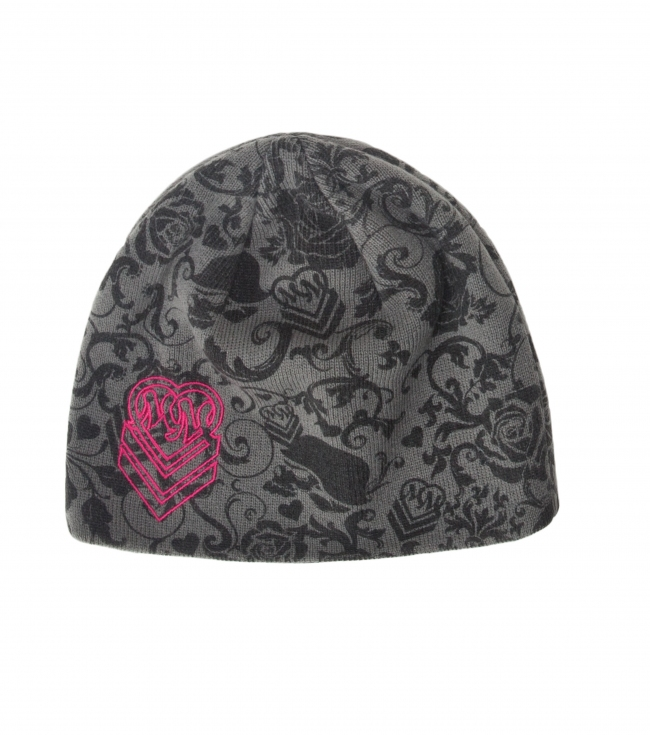 Motorsports Metal Mulisha girls beanie with all over print and custom woven label. - $12.99