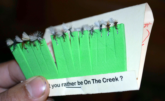 "Flyfishing Fishing Small Flies: ""Matchbook"" Your Midges to Make Knots Easy.  Article by Kirk Deeter"