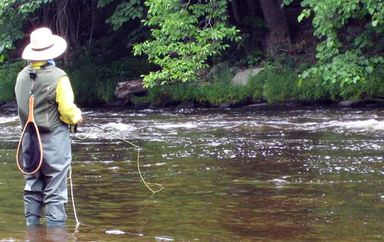Flyfishing Novice Fishing Tip: Try Flyfishing Without Fly-Casting.  Article by John Merwin