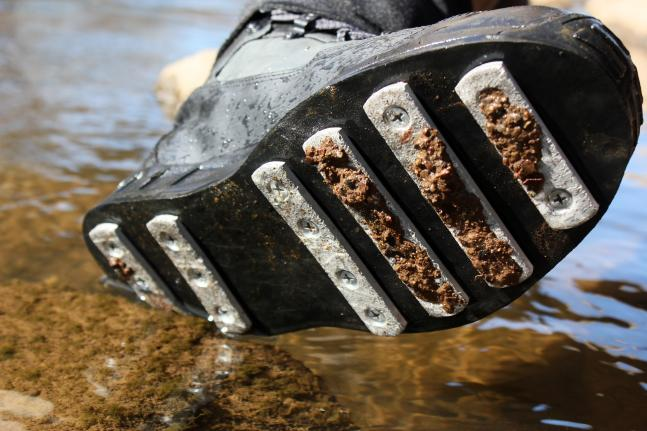 Flyfishing Review: Patagonia Aluminum-Barred Rock Grip Boots.  Article by Joe Cermele