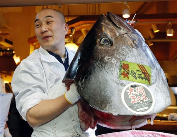 Fishing Bluefin Tuna Sells for Record $1.7M in Japan.  Article by Chad Love