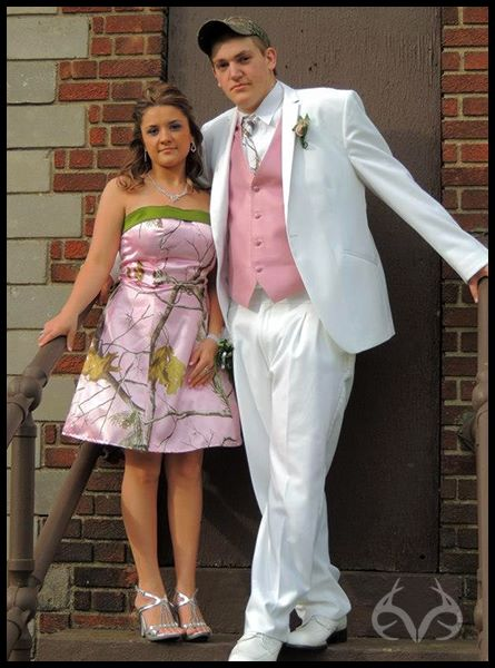 Entertainment Thanks to Kayla McCune and Tony Worst of West Virginia for sending us this great 2013 high school prom picture with a touch of Realtree AP Pink camouflage. To see all the dresses Kayla had to choose from, click here: http://store.realtree.com/camo-formal-