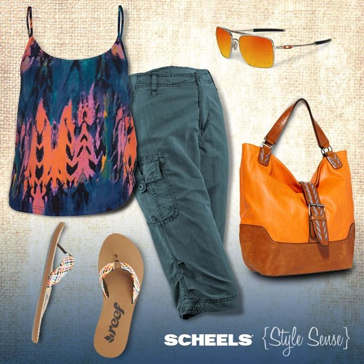 Surf Spring is all about comfort. Don't you agree?  {Get the look} Cami: http://bit.ly/YAwtzh  Sunglasses: http://bit.ly/18OjWHA Handbag: http://bit.ly/12LtgZC Flip Flops: http://bit.ly/16cmWB7 Capri: http://bit.ly/ZBGN5g