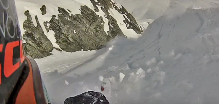 Snowmobile KC Deane's close call with an avalanche.