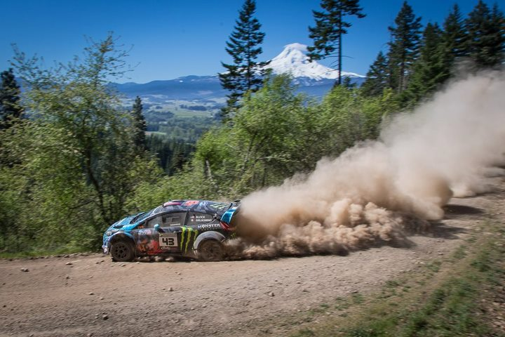 Motorsports Ken Block takes the scenic route at the Oregon Trail Rally & finishes 2nd overall! http://monsterne.ws/16OM299