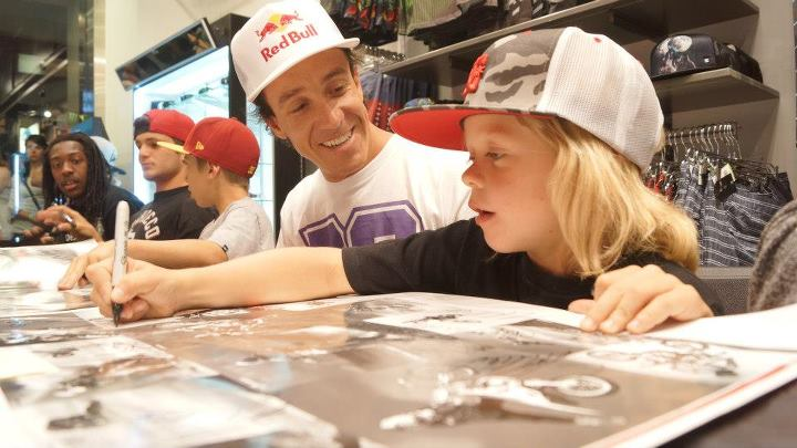 Motorsports Robbie Maddison and Ryder Difrancesco at the autograph signing.