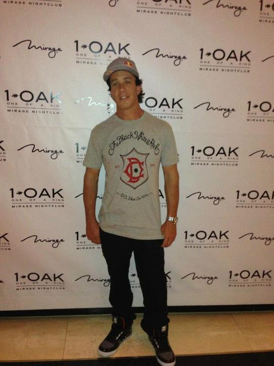Motorsports Robbie Maddison at 1 OAK Las Vegas for a DC pre-supercross party.