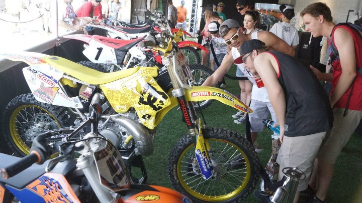 Motorsports The fans in Las Vegas loved looking at some of the athletes bikes at our set up in the pits.
