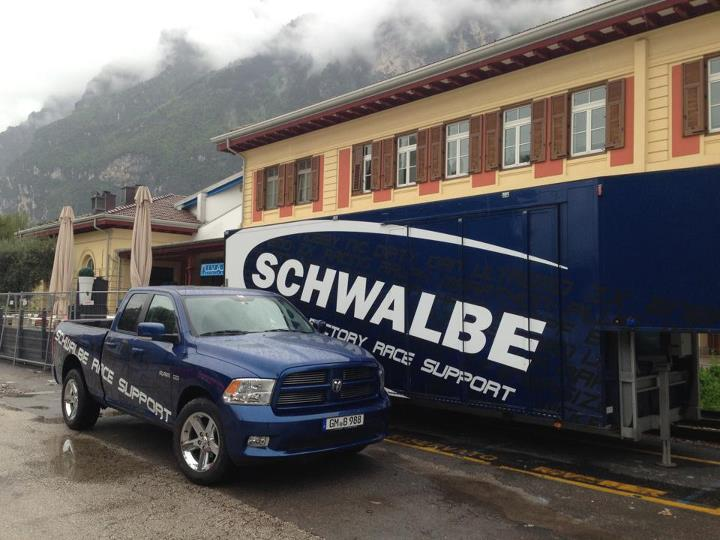 MTB Off out shooting with Schwalbe today. They got one helluva truck.