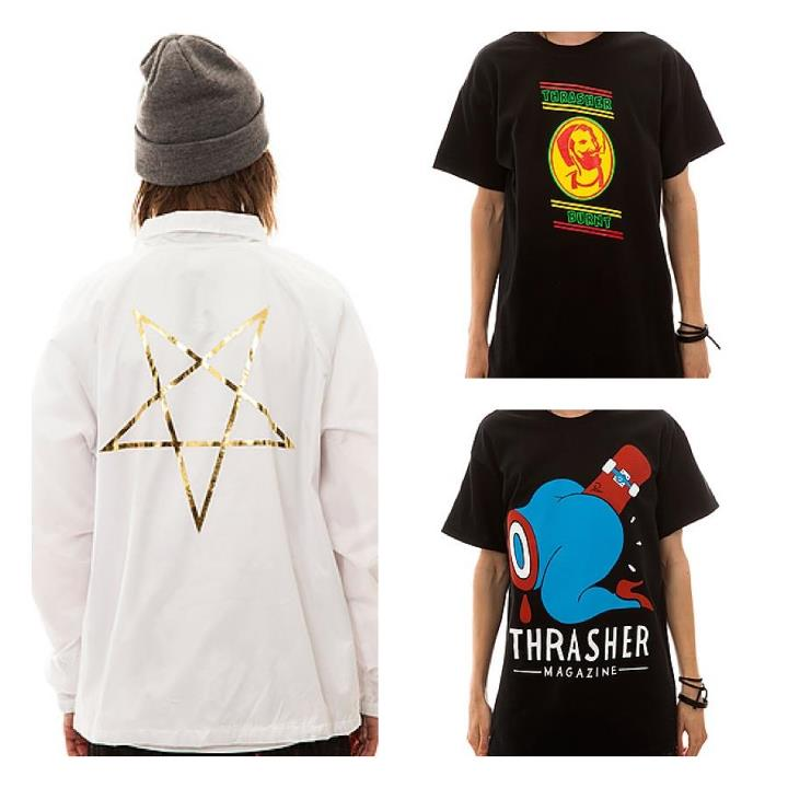 Skateboard Got a huge full run of Thrasher Magazine gear and accessories up on the site right now!