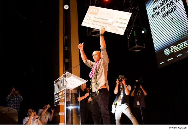 Surf Shane Dorian and Shawn Dollar win big at the Billabong XXL Awards.   READ HERE: http://bit.ly/11bLqtm