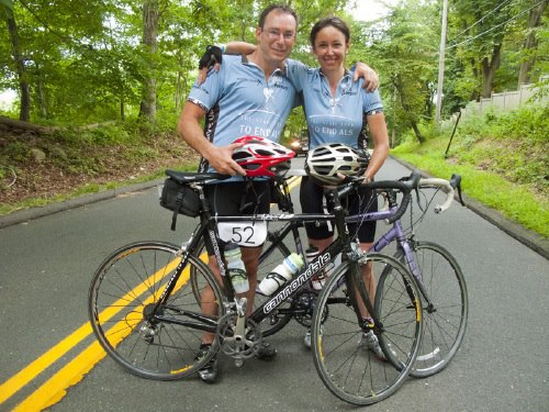 Fitness Lisa Bannon is riding the ALS TDI Tri-State Trek for the 5th time this year.