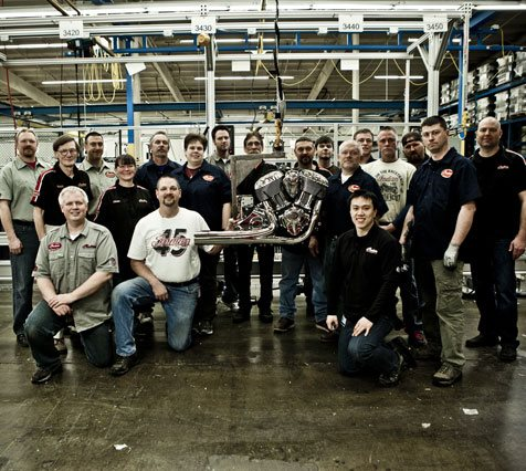 Auto and Cycle We build Indian Motorcycle with pride right in America's heartland.   Here is the team behind the Thunder Stroke 111™ in Osceola, WI where it was made.