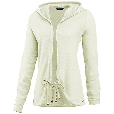 Free Shipping. Merrell Women's Lauca Cardigan DECENT FEATURES of the Merrell Women's Lauca Cardigan Twill tape draw-tie front closure Three-piece hood The SPECS Center Back Length: 25in. 65% Polyester, 35% Viscose - $59.95