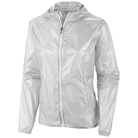 Free Shipping. Mountain Hardwear Women's Ghost Whisper Hooded FZ DECENT FEATURES of the Mountain Hardwear Women's Ghost Whisper Hooded FZ Super ultra lightweight shell Wind and water resistant Easily packable-stows in built in pocket Low profile hood for a snug fit Reflective trim for visibility The SPECS Average Weight: 1.90 oz / 54 g Center Back Length: 25.5in. / 65 cm Body: Whisperer 7D x 10D Ripstop 100% nylon - $164.95