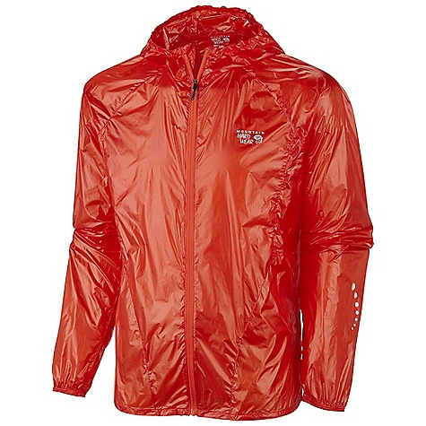Free Shipping. Mountain Hardwear Men's Ghost Whisper Hooded Jacket DECENT FEATURES of the Mountain Hardwear Men's Ghost Whisper Hooded Jacket Super ultra lightweight shell Wind and water resistant Easily packable-stows in built in pocket Low profile hood for a snug fit Reflective trim for visibility The SPECS Average Weight: 2 oz / 59 g Center Back Length: 28in. / 71cm Body: Whisperer 7DxlOD Ripstop 100% nylon - $164.95
