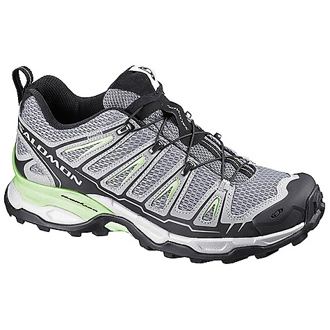 Camp and Hike Free Shipping. Salomon Women's X Ultra Shoe DECENT FEATURES of the Salomon Women's X Ultra Shoe Quick Drying Breathable Mesh Mud Guard Non Marking Contagrip EVA Shaped Footbed Low Sensifit Advanced Chassis OrthoLite Lace Pocket Quicklace Protective Rubber Toe Cap Textile Molded EVA - $119.95