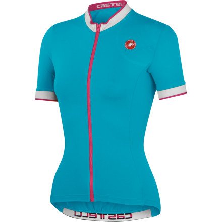 Fitness Since its inception, the Perla has been Castelli's most popular jersey design -- a testament to its ingenuity and insightful design. And for 2013, we see a continuation of pure excellence with the Perla Women's Jersey. With a perfect fit, incredibly soft fabrics, and a design like none other, we expect the Perla's popularity to spike once again. This jersey has been constructed from Castelli's Softlex fabric for its comfort, stretch, and moisture management properties. And while it's composition is not one of organic fiber, the material has been engineered to retain a cotton-like feel and aesthetic. More importantly, though, Softlex performs the aforementioned duties with vigor. Accordingly, it feels incredible on the skin without a base layer, and of equal merit, it efficiently transports moisture from the skin to the quick-drying surface of the jersey. In terms of stretch, you'll find that Softlex's natural elasticity provides a complete freedom of movement. Furthermore, this attribute has been intensified through Castelli's hallmark fit. Essentially, this jersey has been designed on an anatomic curve that not only takes the female body into account, but the female body within the cycling position. As a result, the jersey follows your movements in the saddle, almost predicting them. This way, abrasion is minimized, and the jersey's structure becomes exceptionally flattering to the figure. Additionally, Castelli continued this concept by designing the Perla with seamless arms and neck bands. To house your ride essentials, Castelli has included three ample sized rear pockets and a rear zippered key pocket. And to increase your visibility to motorists in low-light conditions, the jersey features reflective accents throughout. Please note that no shelf bra has been built in, as Castelli believes you'd rather go with a sports bra you know and love rather than take a chance on one that you're unfamiliar with. - $59.96