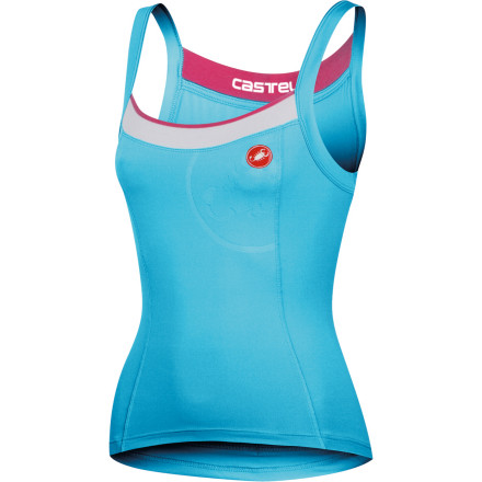 Fitness Here's a design challenge. Make a tank top that functions like a jersey without turning it into a sleeveless jersey. Think. Draw. Pencils down. Does it look like the Castelli Perla Bravette Women's Sleeveless Top' Probably not. Since its inception, the Perla has been Castelli's most popular jersey design -- a testament to its ingenuity and insightful design. This jersey has been constructed from Castelli's Softlex fabric for its comfort, stretch, and moisture management properties. And while it's composition is not one of organic fiber, the material has been engineered to retain a cotton-like feel and aesthetic. More importantly, though, Softlex performs the aforementioned duties with vigor. Accordingly, it feels incredible on the skin without a base layer, and of equal merit, it efficiently transports moisture from the skin to the quick-drying surface of the jersey. In terms of stretch, you'll find that Softlex's natural elasticity provides a complete freedom of movement. Furthermore, this attribute has been intensified through Castelli's hallmark fit. Essentially, this jersey has been designed on an anatomic curve that not only takes the female body into account, but the female body within the cycling position. As a result, the jersey follows your movements in the saddle, almost predicting them. This way, abrasion is minimized, and the jersey's structure becomes exceptionally flattering to the figure. Additionally, Castelli designed the Perla with a dropped neck and supportive microfiber shoulder straps in order to reinvent the look and feel of cycling jerseys. To house your ride essentials, Castelli has included three ample sized rear pockets. And to increase your visibility to motorists in low-light conditions, the jersey features reflective accents throughout. Please note that no shelf bra has been built in, as Castelli believes you'd rather go with a sport bra you know and love rather than take a chance on one that you're unfamiliar with. - $52.46