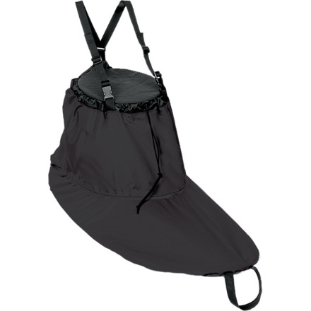 Kayak and Canoe Cruise the Maine coastline or explore bays off the shore in California and use the Kokatat Basic Sea Skirt to keep water out of the cockpit of your touring kayak. This waterproof nylon skirt secures around your waist with a one drawcord and another drawcord seals the sea skirt around the cockpit combing, forming a tight fit from your boat to your body. To take this skirt above beyond the basics offered by other brands, Kokatat added removable suspenders and factory seam sealing, a combination you'll be hard-pressed to find elsewhere. - $57.80
