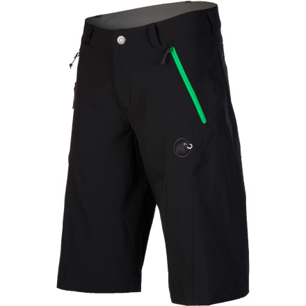 Fitness With its loose, airy fit and generous fabric stretch, the Mammut Men's Runbold Short is ideal for long travel days, backpacking trips, and everything in between. The breathable nylon stands up to hard use and dries quickly should you go for a spontaneous swim. - $88.95