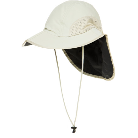 From a hot summer day at the ball park to a tropical destination, protect your face and neck from sunburn with the Sunday Afternoons Traveler Hat. The folding clam-shell style allows the hat to fold flat for easy packing, and the hidden pocket in the neck cape stows your cash or lip balm. - $38.95