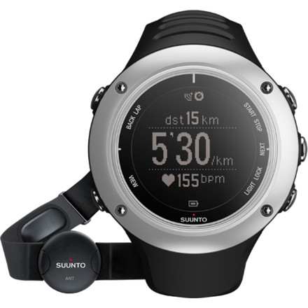 Fitness Whether you're training for the next Iron Man or falling into stride at the start of a summer marathon, trust the Suunto Ambit2 S Heart Rate Monitor to supply every bit of information you'll need to improve your performance. Complete GPS functionality logs your routes, pinpoints your location, and tracks elevation while multi-sport functionality allows you to quickly switch between running, cycling, swimming, and training modes. The included chest strap allows the watch to graph heart rate in real time and helps you target specific intensity zones. Plus, the watch can be recharged via USB and further customized with over 1000 free applications from Suunto. - $450.00