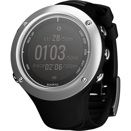 Fitness From tracking and sharing your latest trail run to logging your VO2 max values, the Suunto Ambit2 S Watch supplies a torrent of valuable information to the serious endurance athlete. Full GPS functionality aids in route navigation, graphs changes in altitude, and tracks speed, pace, and distance. Multi-sport versatility allows you to quickly swap between running, cycling, and swimming modes, making the watch ideal for triathlon training. Plus, the watch battery can be recharged via USB and further customized with over 1000 free applications available from Sunnto. - $400.00