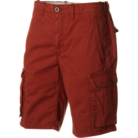 Skateboard Slip on the Levi's Men's Ace Cargo Shorts, invite a few friends over, and start building that skate ramp in your backyard. The regular fit extends just below the knee, and the reinforced stitching in the cargo pockets provides enough strength to stow all your carpentry and after-carpentry goodies. - $49.95