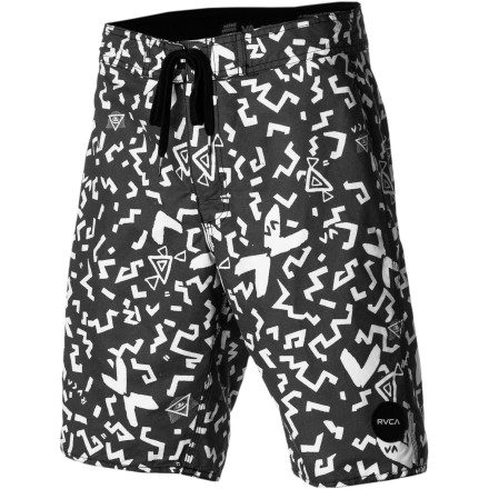 Surf The RVCA Shakes Board Short is a crossover land and sea short with a soft, comfy polyester, cotton, and nylon blended fabric that still dries much faster than a traditional walkshort. A zippered rear pocket with hook-and-loop flap secures your ID and house key when it's time for a quick surf session. - $65.95