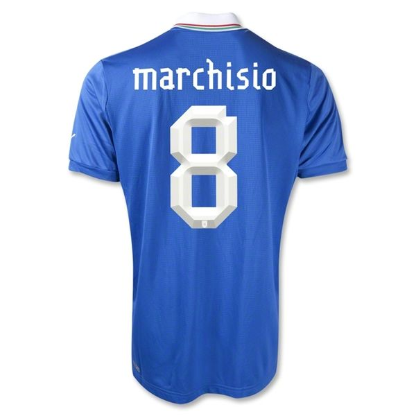 Entertainment MARCHISIO Italy Home Soccer Jersey 2012