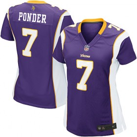 Sports Women's Nike MInnesota Vikings Christian Ponder Game Team Color Jersey