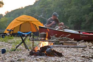 Camp and Hike River Camping - learn how to prepare for your next river camping excursion.   Article by Bill Cooper