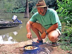 Camp and Hike Cooking Up A Shore Lunch.  