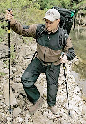 "Camp and Hike The Versatile Walking Staff - ""A hiking stick helps make the miles glide by.""  Article by Keith Sutton"