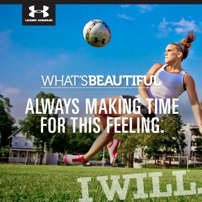Sports Show the world how beautiful strength and determination can be. 