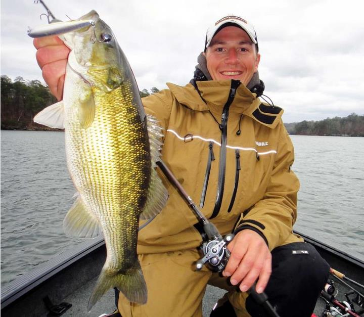Fishing Frabill pro staffer Jeff Gustafson has figured out that the same tactics he uses for smallmouth in the north will work for spotties in the south, and he wrote it up in great detail here. --> http://bit.ly/13Mugir