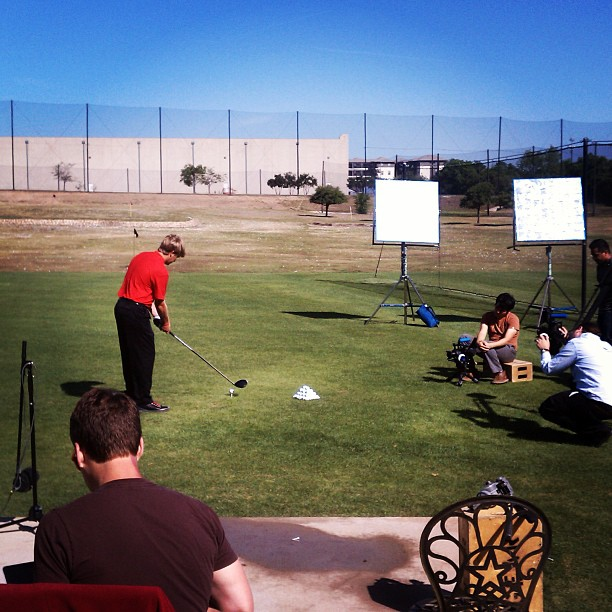 Golf Behind the scenes at a product video shoot for the PING G25 driver. http://instagram.com/p/ZBLqKaC8DN/