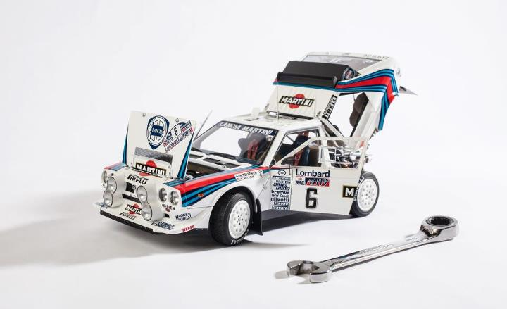 Auto and Cycle Don't call it a toy: We drive some pretty sweet (real) stuff every day, but AUTOart's stunningly detailed 1985 Lancia Delta S4 model bit us hard. http://cardrive.co/6037XWaz